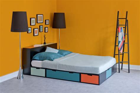 lit podium brick avec rangements int 233 gr 233 s chambre