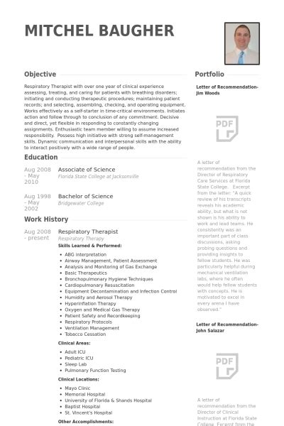 Sle Resume For Registered With No Experience by Respiratory Therapist Resume Respiratory Therapist