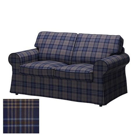 ikea ektorp chair cover blue ikea ektorp 2 seat loveseat sofa cover slipcover rutna