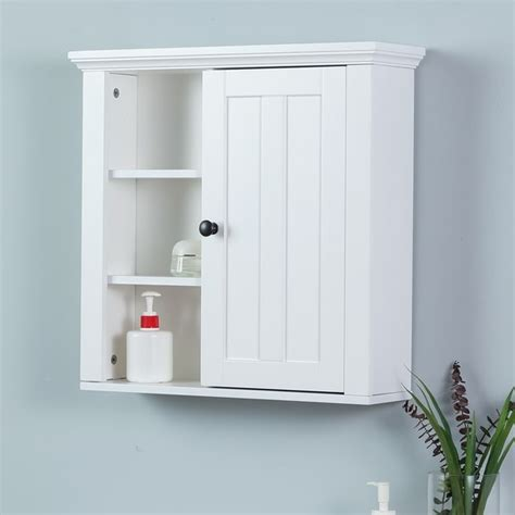 shop white wood bathroom wall cabinet  sale