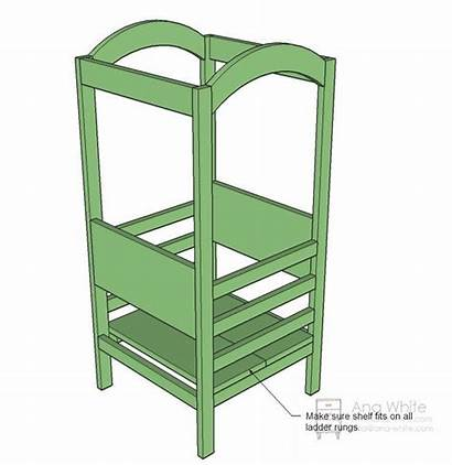 Helper Kitchen Stool Tower Build Plans Learning
