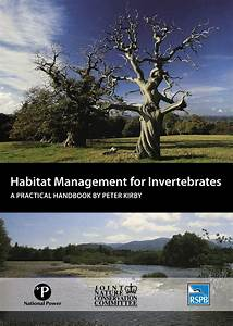 Habitat Management For Invertebrates  A Practical Handbook