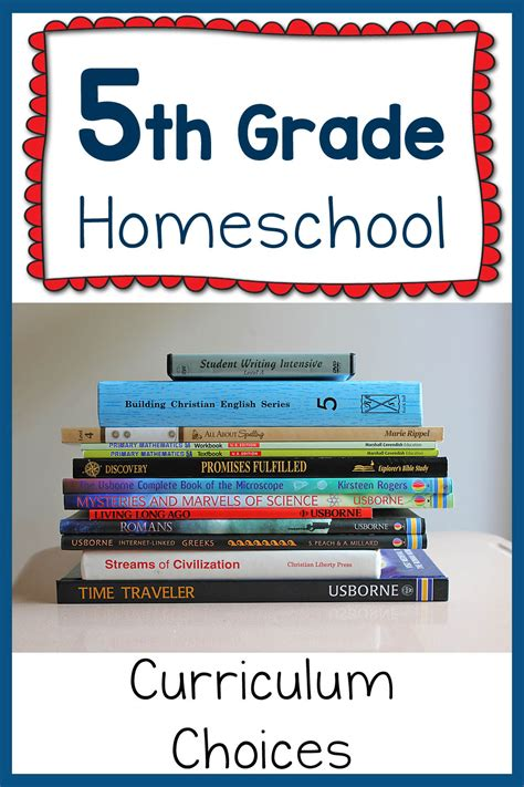 5th Grade Homeschool Curriculum Plans For 20152016  Mamas Learning Corner