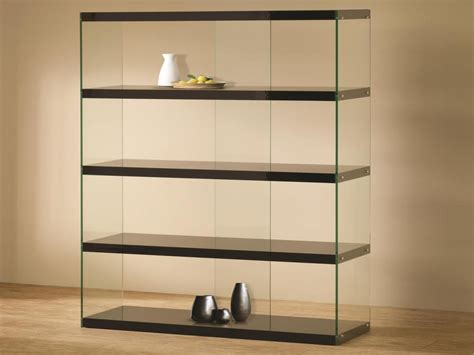 glass bookcases  shelves modern glass display cabinets