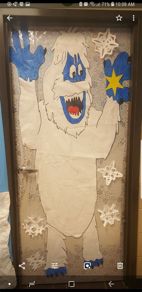 bumble  abominable snow monster christmas door