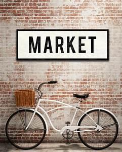 Vintage Market Sign, Farmhouse Kitchen Sign, Vintage