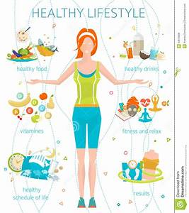 Lifestyle And More : concept of healthy lifestyle stock vector illustration ~ Watch28wear.com Haus und Dekorationen