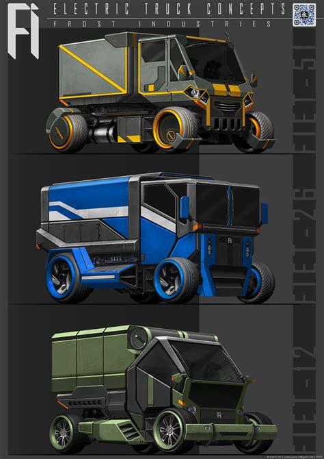 artstation electric truck concepts benjamin tan