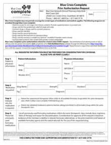 fillable blue cross complete prior authorization request form fax email print pdffiller