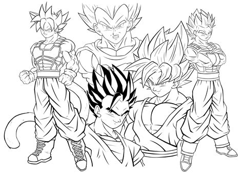 Beautiful Ssjgod Ss Goku Fukkatsu No F Lineart By Dragonballaffinity ...