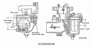 Carcorator Float Set Ih Carb On1950 Cub