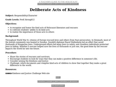 Deliberate Acts Of Kindness Lesson Plan For 6th