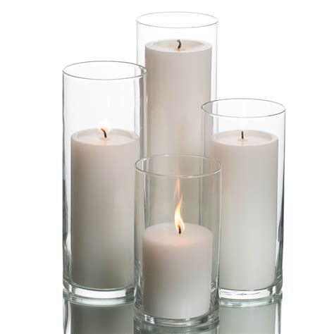 Glass Candle Vases by Eastland Cylinders Richland Pillar Candles Set Of 48