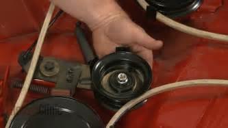craftsman lt2000 deck belt replacement craftsman mower flat idler pulley replacement