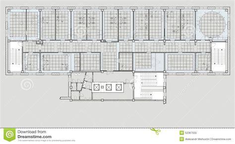 immeuble de bureaux immeuble de bureaux de plan illustration stock