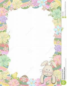 Easter Egg Border With Bunny Royalty Free Stock Photos ...