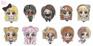 My chibi friends and me by Iriname on DeviantArt