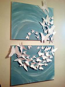 3d Wandgestaltung Selber Machen : 3d madam butterfly flutterby set of 2 24x36 painted canvas leinwandbilder selber machen ~ Sanjose-hotels-ca.com Haus und Dekorationen
