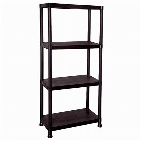 45 Tier Black Plastic Shelving Unit Storage Shelves