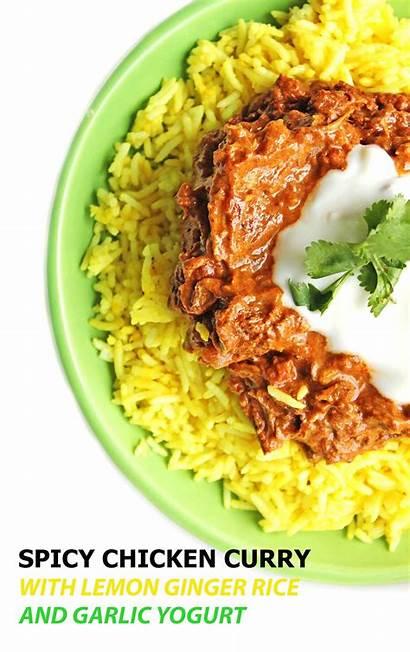 Chicken Curry Rice Ginger Yogurt Lemon Spicy
