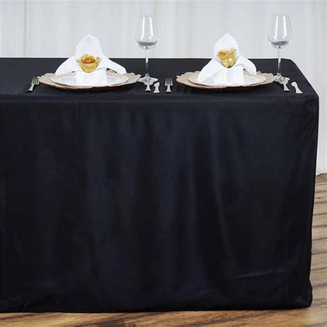 tablecloth for 8 foot table black fitted 8 feet tablecloths efavormart
