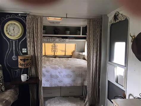 travel trailer turned tiny home cottage style camping