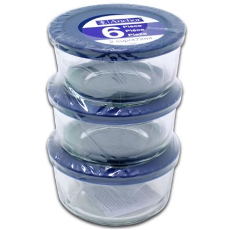 plastic kitchen storage containers with lids anchor 82629l11 6 kitchen storage containers w 9140