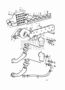 Volvo Penta Exploded View    Schematic Inlet And Exhaust