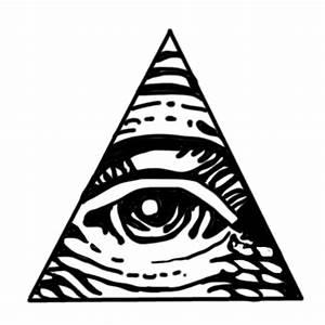 Illuminati Black All Seeing Eye Simple Stickers By Sketch ...