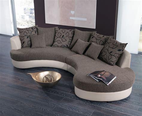wohnlandschaft rund braun beige beany moderne couch