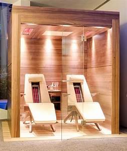Sauna Für 2 Personen : luxus infrarotkabine f r 2 personen liegend in nussholz ~ Orissabook.com Haus und Dekorationen