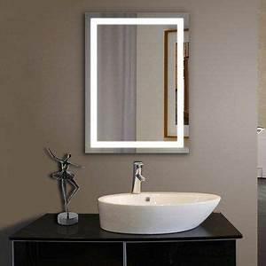 Install Hardwired Lighted Makeup Mirror Orren Ellis Maya Beveled Lighted Bathroom Mirror Size 36
