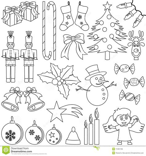 cruciverba da stare pdf icone di natale di coloritura illustrazione vettoriale