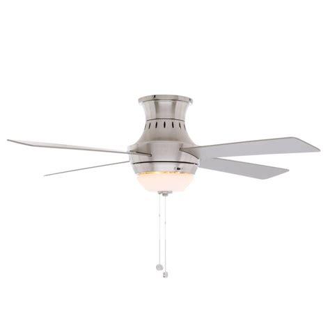 ceiling fan wobbles at low speed hton bay wentworth 52 in brushed nickel ceiling fan