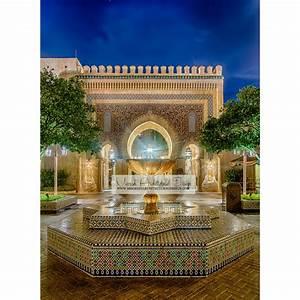 Moroccan, Courtyard, Fountain