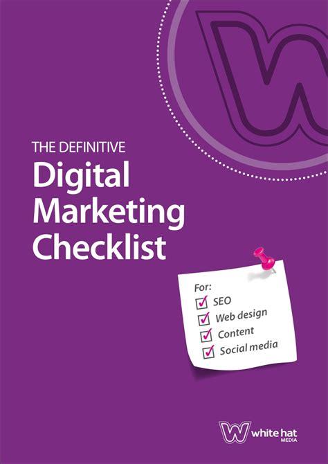 marketing checklist examples templates