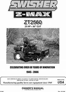 Swisher Lawn  Riding Mower Rear Engine Manual L0701322