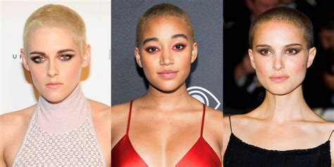 women  shaved heads female celebs  buzzcuts