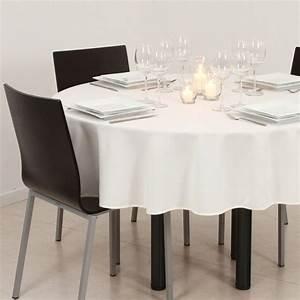 Nappe De Table Ronde : nappe ronde d180 cm lina ivoire nappe de table eminza ~ Teatrodelosmanantiales.com Idées de Décoration