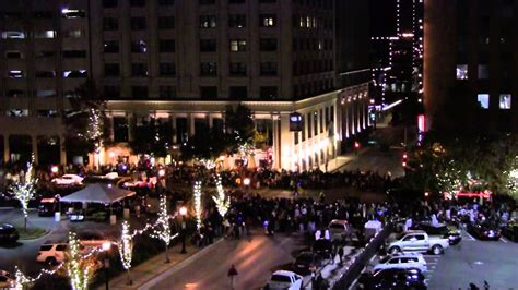 fort worth parade of lights in time lapse