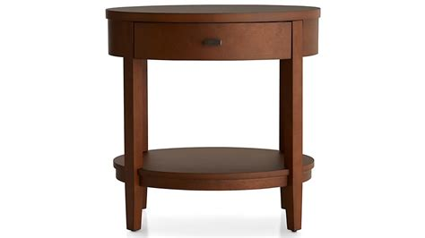 Oval Nightstand by Arch Tea Oval Nightstand With Drawer Crate And Barrel