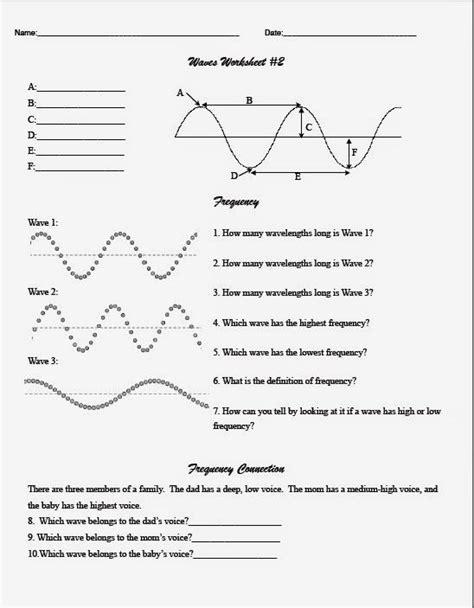 Teaching The Kid Middle School Wave Worksheet  Earth Science  Pinterest  Worksheets, Middle