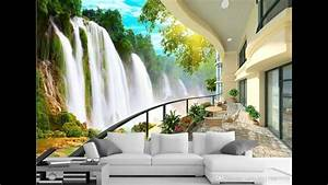 Waterfall Wallpaper for room – Interior Design Trends 2017 ...