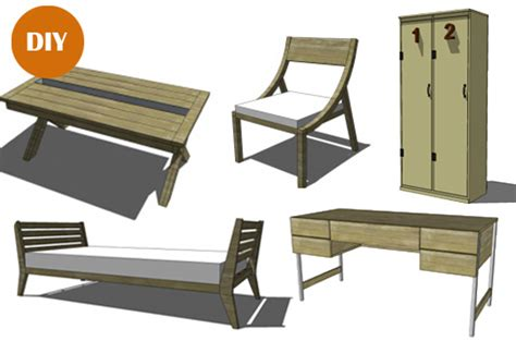 furniture plans    build diy woodworking