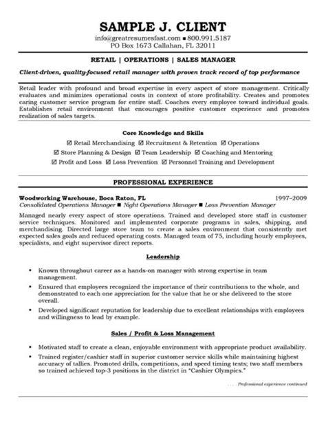 Retail Experience On Resume by Retail Experience Resume Musiccityspiritsandcocktail