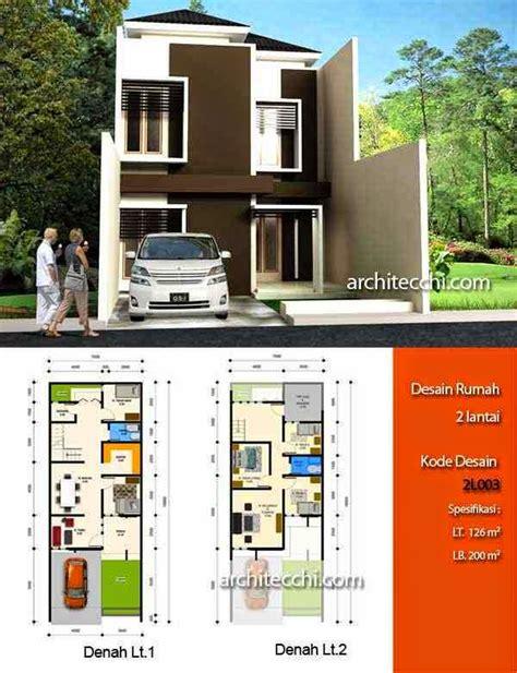 desain rumah minimalis  lantai beserta denah foto