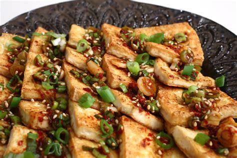 pan fried tofu with spicy sauce dububuchim yangnyeomjang