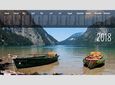 Jahreskalender 2018 Hintergrundbilder kostenlos