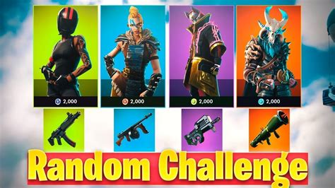 random skin challenge fortnite youtube