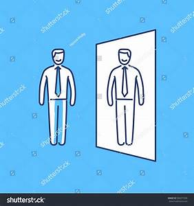 Vector Self Awareness Skills Icon Businessman Stock Vector